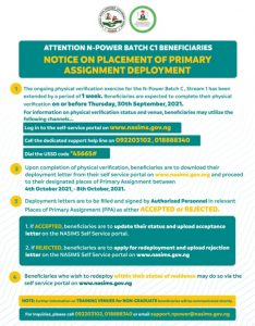 Nasims N-power Batch C Extends Date for Physical Verification